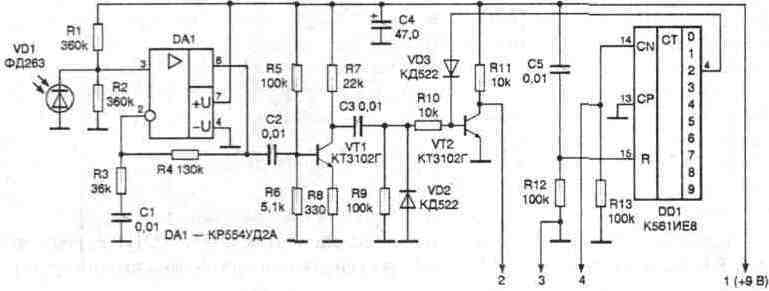 Принципиальная схема ИК