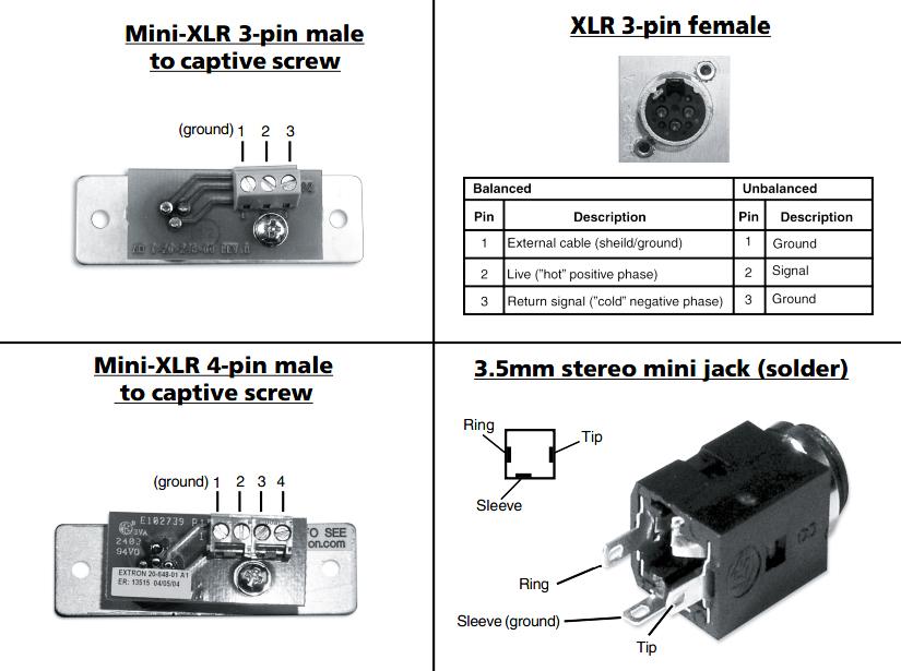 ремонт трёхконтактого разъёма xlr3