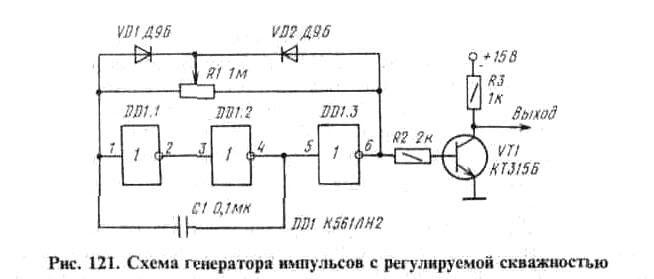 обозначение знаком генератора импульсов