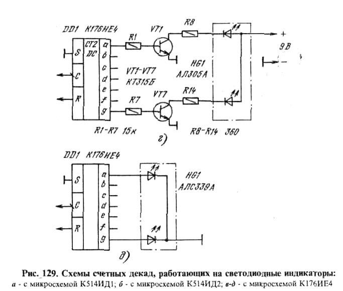 Схема простого счетчика импульсов
