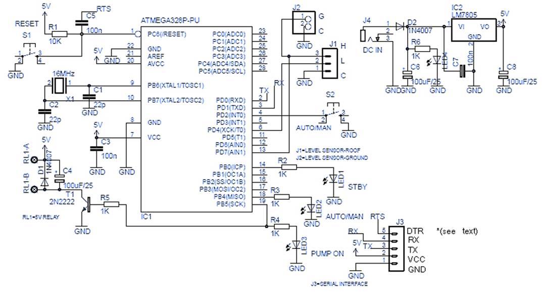 Arduino uno схема atmega328p