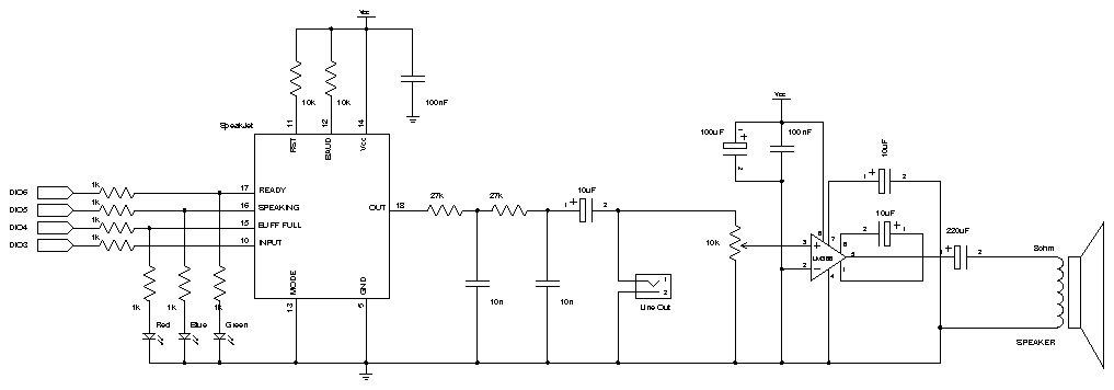 Синтезатор речи схема