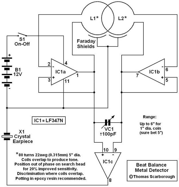 Схема металлоискатель для золота своими руками