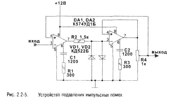 Схема для помех радио