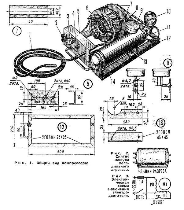 Рис. 1. Общий вид компрессора: