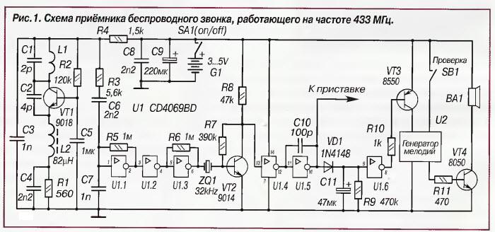Радиозвонка космос схема
