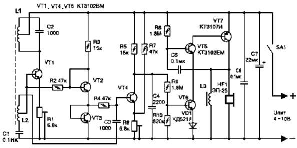 Электрическая схема собрана на