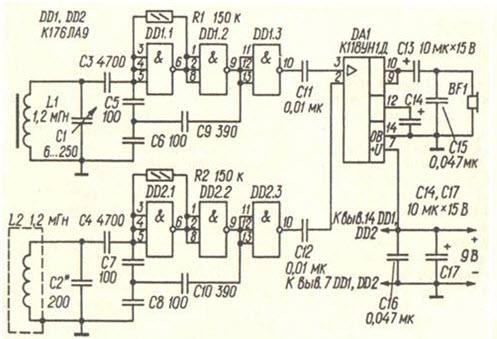 принципиальная схема мультиметра