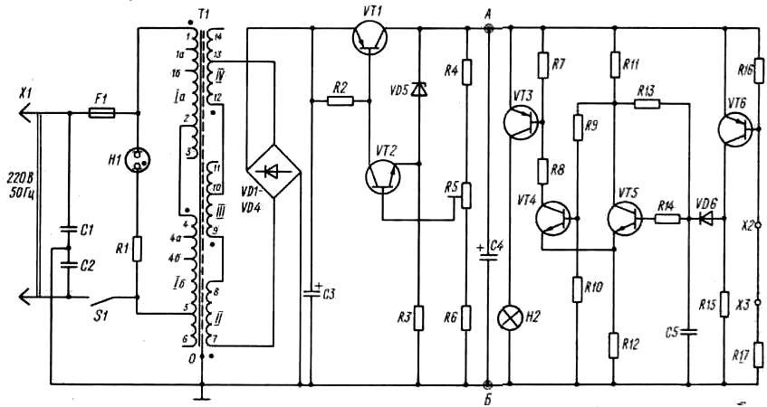 схема электронного сторожа