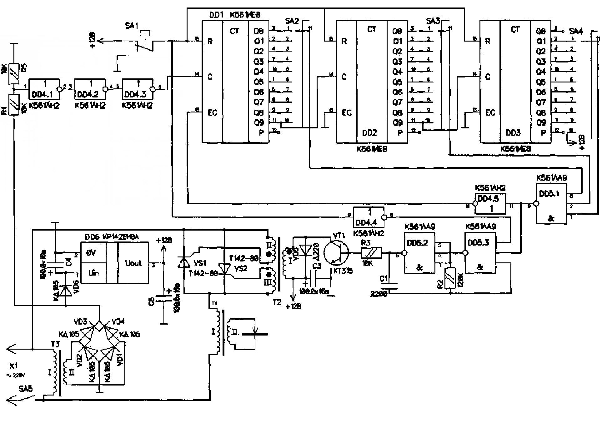 схема контактной точечной электросварки