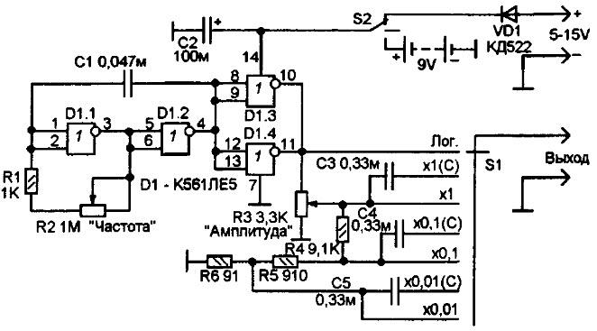 Генератор звуковых частот