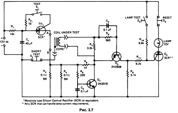 катушками схема детектора