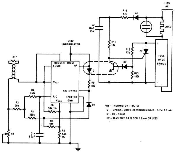 Тиристор Q2 подбирается из