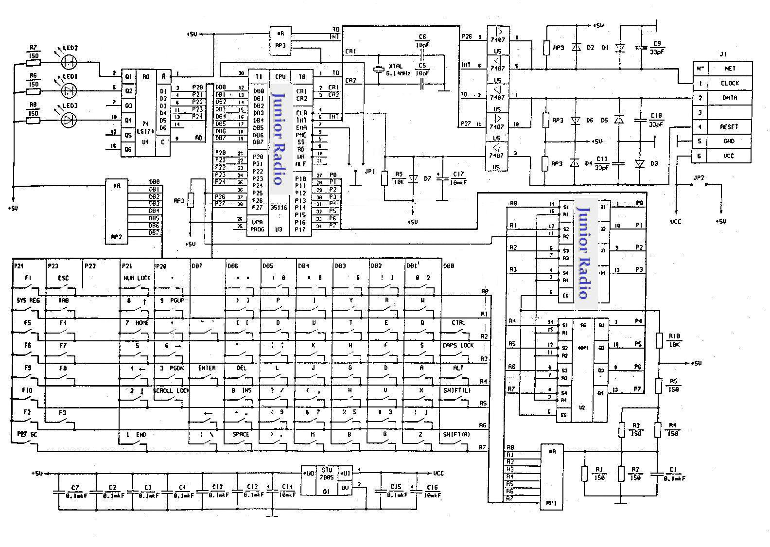 Схема usb-midi адаптера