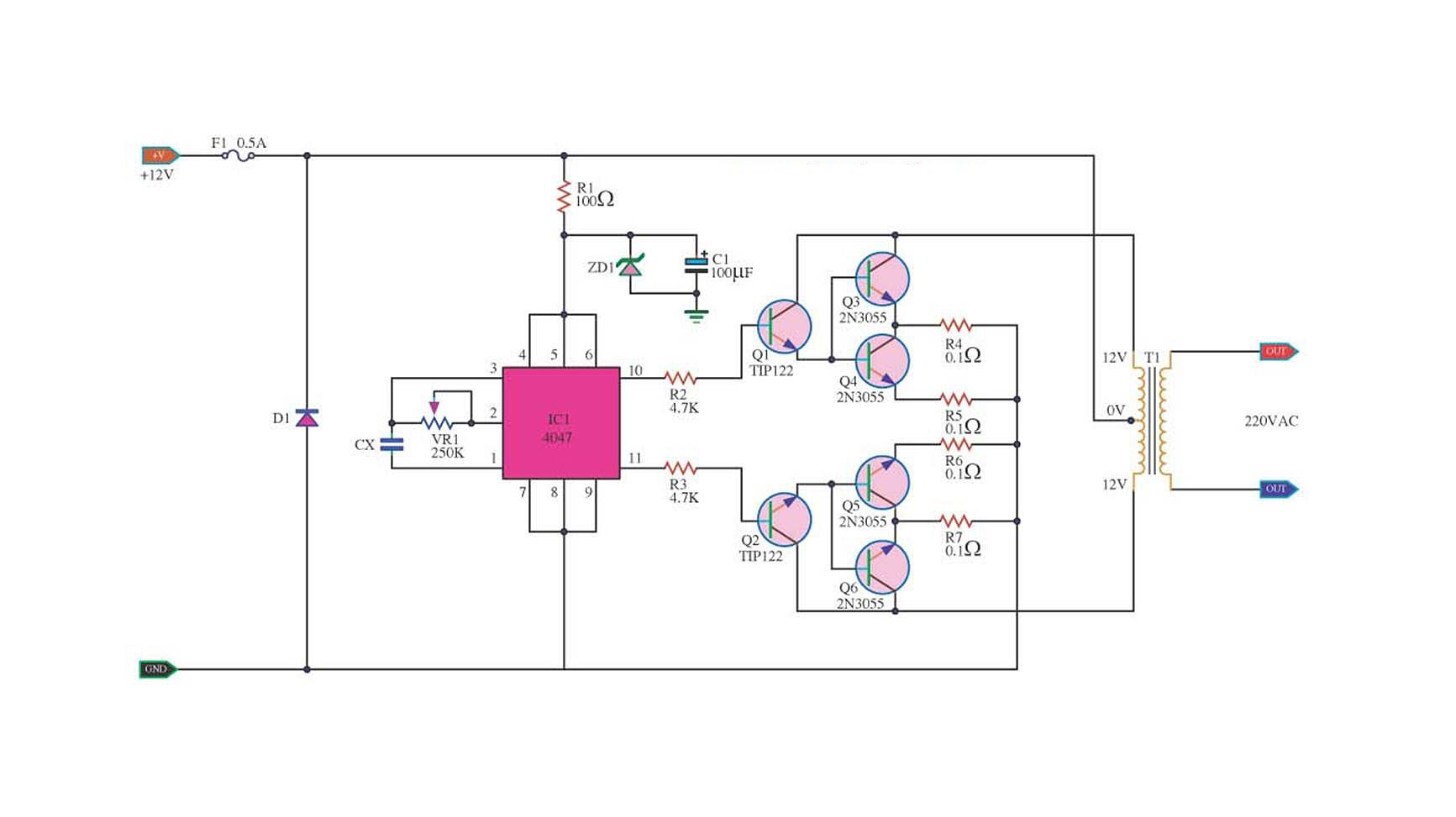 100w dc power inverter circuit inverter circuit and products 18-Volt AC to DC Converter dc to ac conversion circuit...